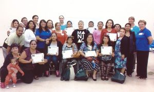 The participants from Our Lady of Guadalupe with their certificates of completion